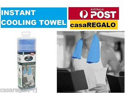 Instant Cooling Towel UPF 50+ Ice Cold Odor Reducing Sports Gym Outdoor Towel