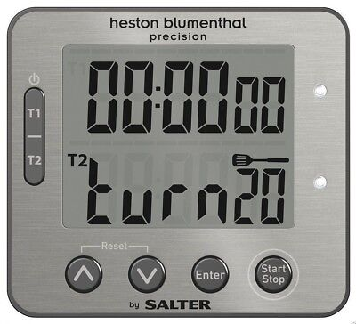 Heston Blumenthal Salter Dual Precision Digital Kitchen Timer - 340 HBSSXR