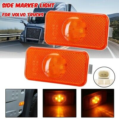 2x Side Marker Lights Lamps Amber for FIAT Ducato 2009/> E4 Marked 24V Maxi