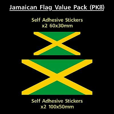 Jamaican / Jamaica Flag Sticker Decals - Value Pack! - Van, Car, Truck, Marley