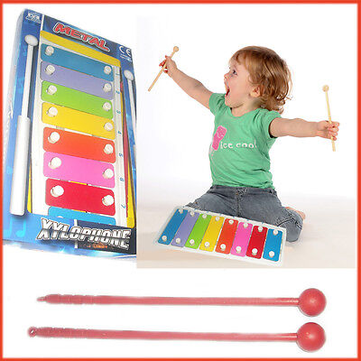 Metal Xylophone Kids Musical Instrument Play Set Music Learning Sound Child Baby