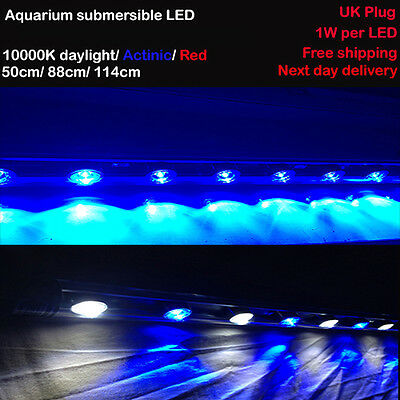 Aquarium Fully Submersible Power LED White Actinic Enhancement - 114 cm / 45""