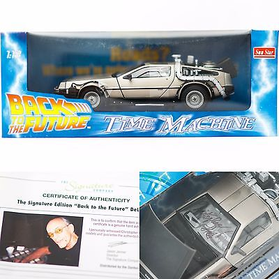 Christopher Lloyd Signed Back To The Future Delorean 1:18 Car