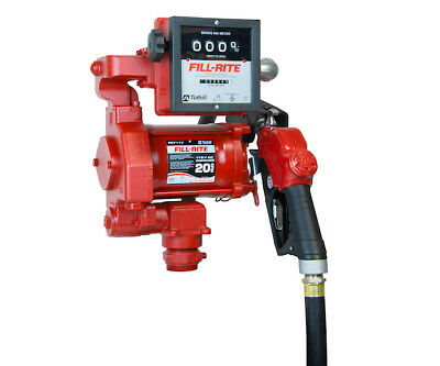 Fill-Rite FR711VA Fuel Transfer Pump 115V AC High Flow, Meter, Auto Nozzle, Hose
