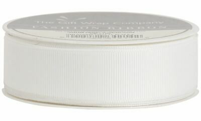 The Gift Wrap Company - 7/8-Inch Grosgrain Ribbon, White (16042-14)
