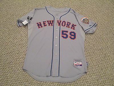 2012 Game used Mets jersey Road Grey SZ 48 Warthen #59 MLB hologram 2 patches