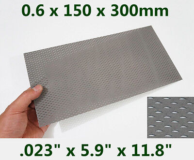 "Titanium Mesh ( .023"" x 5.9"" x 11.8"" ) Gr1 expanded metal sheet Perforated plate"