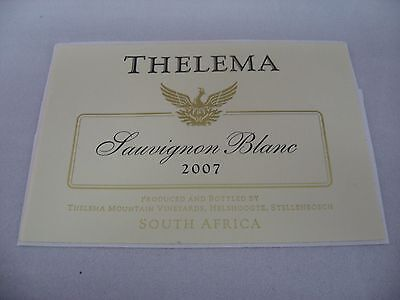 Wine Label: THELEMA 2007 Sauvignon Blanc South Africa