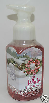 New Bath & Body Works Iced White Pomegranate Gentle Foaming Hand Soap Wash Foam