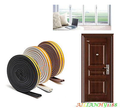 5M Soundproof Window Door Excluder Seal Strip Self Adhesive Rubber Roll Ahy