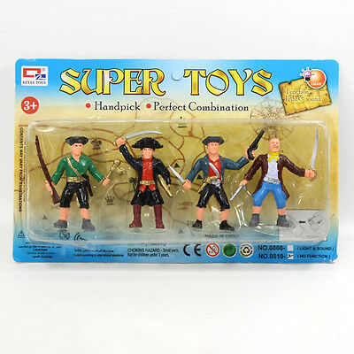 P2522 4PCS  Moldel Painted Figures  Pirates  Robbers Super Toys NEW