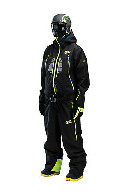 Picture Men's Buzz 2 Expedition Ski Snowboard One Piece Suit Black MVT057