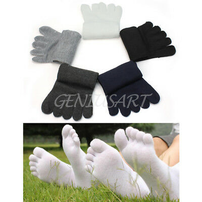 5 Pairs Pure soft Casual Men Five Seperate Finger Toe Socks Cotton Warm Winter