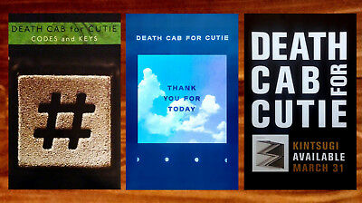DEATH CAB FOR CUTIE Kintsugi | Codes & Keys Ltd Ed 2 Posters Lot+FREE 3rd Poster