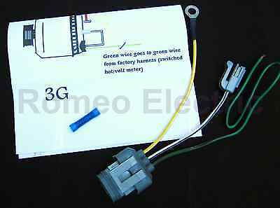 ford g alternator conversion harness connector wire bull  ford 3g alternator conversion harness connector 1 wire
