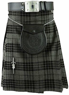 Grau Schottisch Herren Kilt Schottenkaro Kilts Traditionell Highland kleid