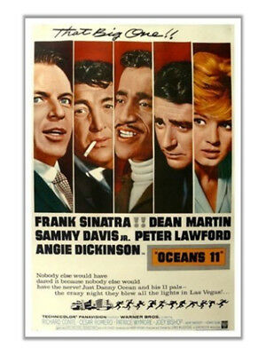 Oceans 11 (1960) Sinatra Dean Martin Davis Jr Lawford The Rat Pack 12x18 Poster