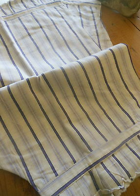 Antique French Blue Ticking Stripe Old Store Stock Ladies Pantaloon Bloomers