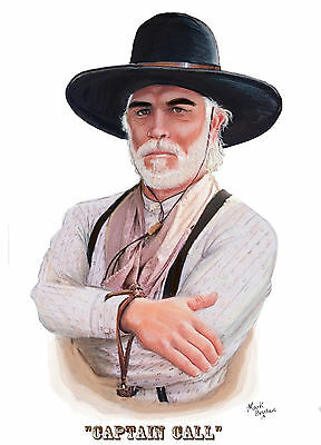 Lonesome dove Drawing Of Gus McCrae,Portrait of Gus McCrae Western Art Prints