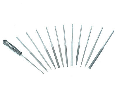 Bahco BAH472 Needle Set of 12 Cut 2 Smooth 2-472-16-2-0 160mm (6.2in)