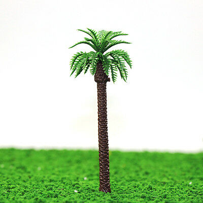 YS01 20pcs 5 inch Height Model Palm Trees Model Layout Train Scale 1/100 TT HO