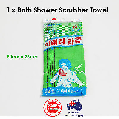 Korean Exfoliating Italy Towel Skin Washcloth Body Back Wash Scrubber Bath Long
