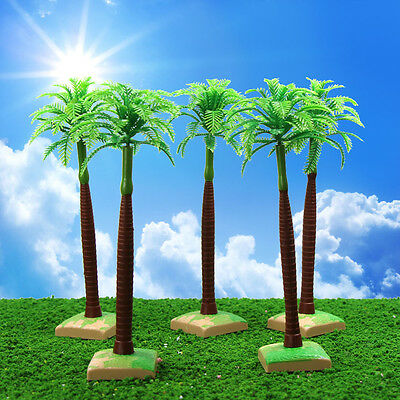 YS12 10pcs 7.1 inch Model Palm Trees Model Layout Train Scale 1/25 G HO Scale