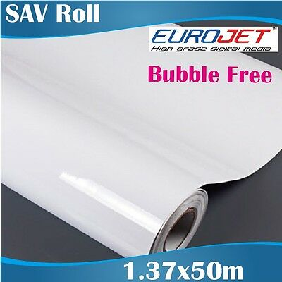 Bubble Free Printable White Self Adhesive Vinyl Roll 1.37x50M, Removable