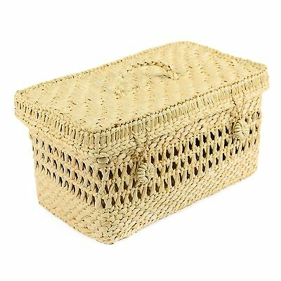 Seagrass Storage Basket Box With Lid Wicker basket extra large