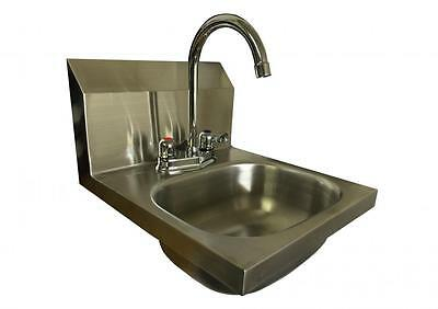 L Shaped Wall Mouned LEVER TAP Stainless Steel HAND WASH BASIN Sink Waste