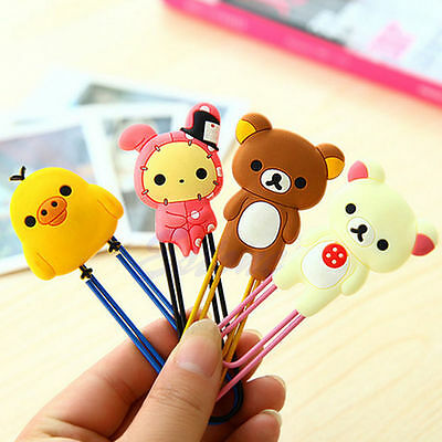 3Pc Lovely Cartoon Animals Paper Note Pin Clips Bookmark Paperclip School Supply