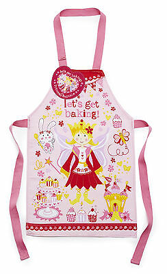 Cooksmart Children's PVC Coated Cotton Apron Princess Cupcake Pink 2-4 Years New
