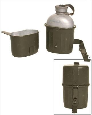 Original German army surplus 3 piece aluminium canteen mug set