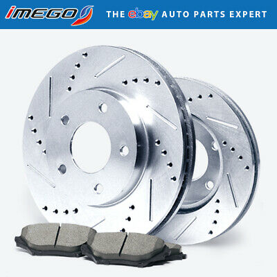 For 90-97 Honda Accord Sedan 2WD 4WD 2.2 2.7 Front Brake Rotors 4x Ceramic Pads