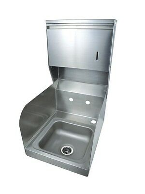 "9"" x 9"" T-304 Stainless Steel Space Saver Hand Sink BBKHS-W-SS-SS-TD"