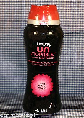 1 Downy Unstopables SPRING Laundry In-wash Scent Booster for Clothes 19.5oz ea