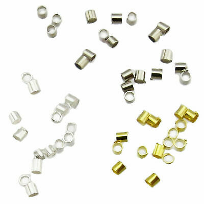 100 Crimp tubes 1,5 x 2mm silver gold Tube Crimp bead crimps Quetschie