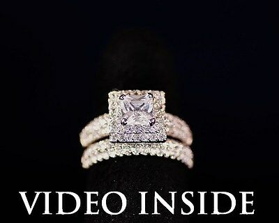 3.8ct Solitaire Created Diamond Engagement Wedding Ring in Real 925 Silver