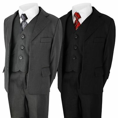 Boys 5 Piece Suit Wedding Party Jacket Trousers Shirt Waistcoat Tie 6Mth -14Year