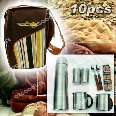 Picnic stainless steel tableware Lunch Box Thermal Insulated Cooler Ice Bag Set