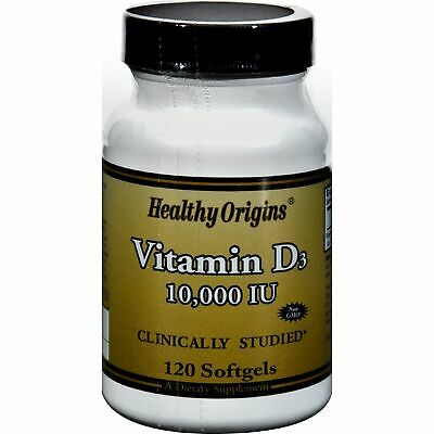 Healthy Origins Vitamin D3 - 10000 Iu - 120 Softgels 2 Pack