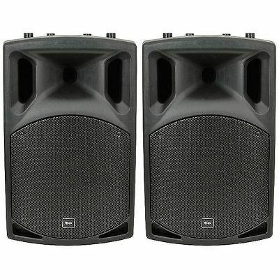 """Qtx Qx15A 15"""" Pair Of Active Pa Speakers Dj Disco 1000W Package"""