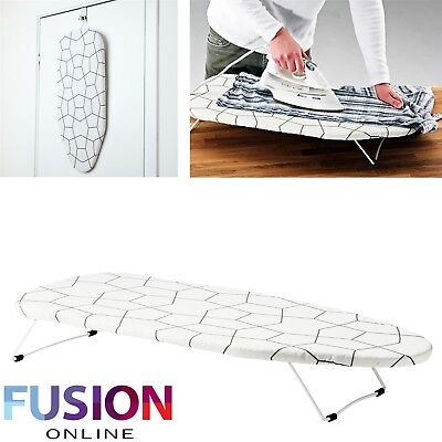 Funky Foldable Portable Compact Table Top Mini Ironing Laundry Board With Cover