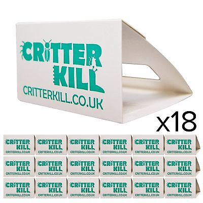 18 X Cockroach Traps Killer Glue Trap Crawling Insect Pest Control Flea Bed Bug