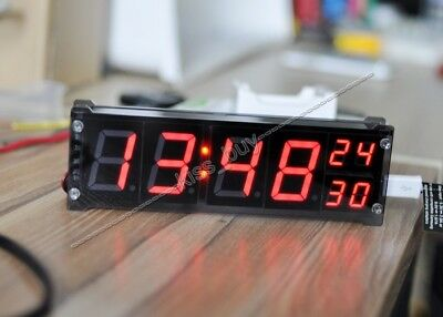 "1.2"" Digital clock led electronic DS3231 time W temperature alarm 12v 24V car"