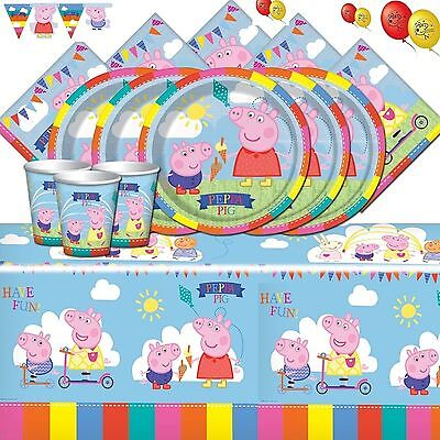 Peppa Pig Party Supplies Carnival Complete Kits For 8 16 24 32 Guests + Banner