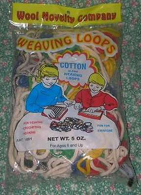 Wool Novelty 5 oz. Bag of Potholder Loops *NEW* Cotton Craft Placemat Weaving