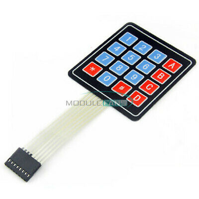 5PCS 4 x 4 Matrix Array 16 Key Membrane Switch Keypad Keyboard For AVR Arduino