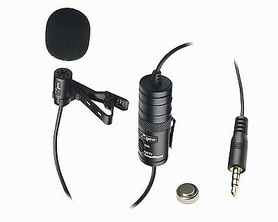 Professional Lavalier Condenser Microphone  for Canon Rebel EOS T5i Camera
