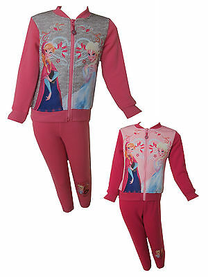 Disney Frozen Girls Tracksuit Top & Jogging Bottoms Oufit Anna Elsa 2,3,4,5,6,8Y